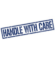 handle with care stamp vector image