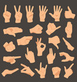 hands gestures set arm vector image