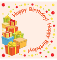 happy birthday - background with gift boxes vector image vector image