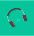 headphones playing music vector image vector image