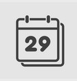 icon calendar day number 29 line flat vector image vector image