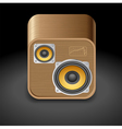 Icon for speakers vector image vector image