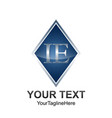 initial letter ie logo template colored grey blue vector image vector image