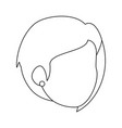 isolated cute wife face vector image vector image
