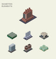 isometric urban set of industry office warehouse vector image vector image