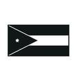 Jordan flag monochrome on white background vector image