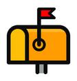 letter box icon design vector image