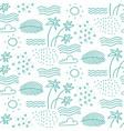 linear monochrome seamless summer pattern vector image