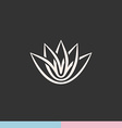 Lotus flower silhouette logo vector image vector image