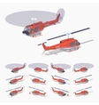Low poly fire helicopter vector image vector image