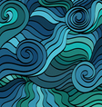 marine wave patterns vector image vector image