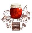 Marmalade Jar Concept vector image