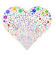 medical emblem fireworks heart vector image vector image