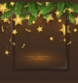 merry christmas holiday background vector image vector image