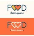 Modern minimalistic logo of food vector image vector image