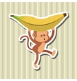 Monkey design animal and cartoon concept vector image