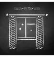 Night window vector image vector image