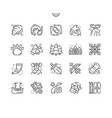 norway well-crafted pixel perfect icons vector image vector image