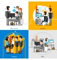Office People 2x2 Design Concept vector image vector image