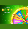 online casino background with spinning retro game vector image vector image