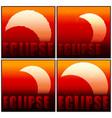 partial eclipse sun mini set vector image
