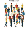 people crowd cartoon style of young vector image