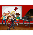 People playing music and dancing vector image vector image
