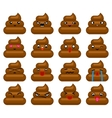Poops Avatar Smile Emoticon Icons Set Isolated vector image vector image