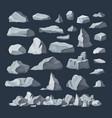 rock stones boulder piles broken rubble blocks vector image