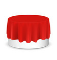 round podium for displaying products vector image