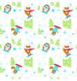 seamless pattern with cute animals vector image vector image