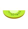 slice of kiwi icon flat style vector image vector image