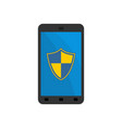 smartphone protection shield on phone gadget vector image