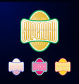 sport emblem typography super dad hero logotype vector image vector image