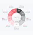 stylish pie chart circle infographic template 9 vector image vector image