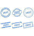 Test stamps vector image