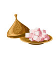 turkish delight locum traditional sweets on vector image vector image