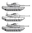 us main battle tank vector image