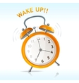 wake up message vector image vector image