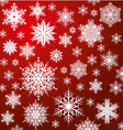 white snowflakes on red vector image vector image