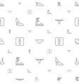 women icons pattern seamless white background vector image vector image