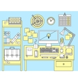 Flat modern design concept of office workspace vector image
