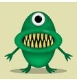 Green cute monster vector image