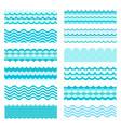 marine waves sea wavy ocean art water design vector image