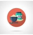 Protein breakfast detailed flat color icon vector image