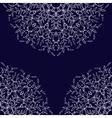 Vintage leaf black ornament background vector image