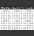 180 outline mini concept icons symbols of seo vector image vector image