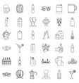 alcoholic drink icons set outline style vector image vector image
