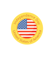 badge for independence day and fourth july vector image