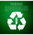 Battery with recycle symbol - renewable energy vector image